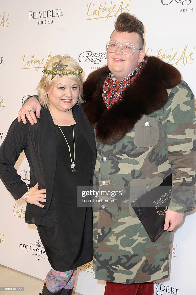Betty Amrhein and guest attends Les Galeries Lafayettes Re-Open Ground Floor on November 14, 2012 in Berlin, Germany.