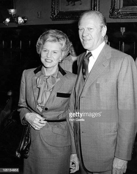 Betty and Gerald Ford during David Kennerly's Book Party at Luchows in New York City NY United States