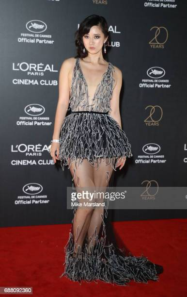 Betty Bachz attends Gala 20th Birthday of L'Oreal In Cannes during the 70th annual Cannes Film Festival at Martinez Hotel on May 24 2017 in Cannes...