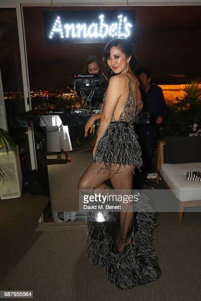 Betty Bachz attends the Chopard and Annabel's Gentleman's Evening at the Hotel Martinez during the 70th Annual Cannes Film Festival on May 24 2017 in...