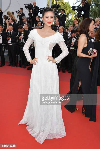 Betty Bachz attends 'The Killing Of A Sacred Deer' screening during the 70th annual Cannes Film Festival at Palais des Festivals on May 22 2017 in...
