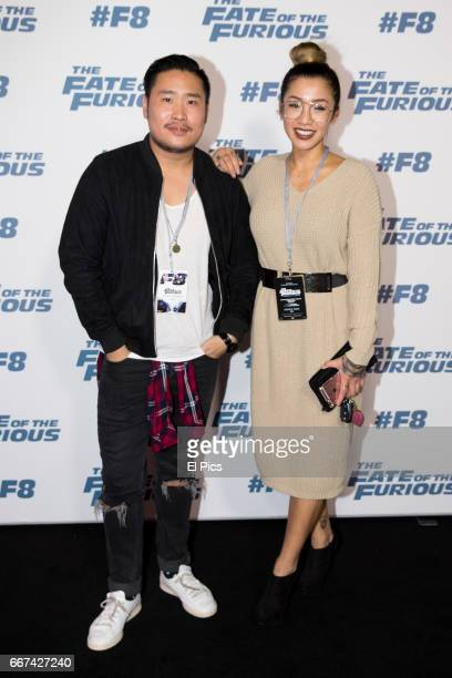 Betty Banks and David Vu arrive ahead of The Fate of the Furious Sydney Premiere on April 11 2017 in Sydney Australia