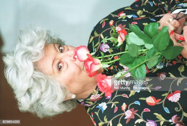 Betty Boothroyd the Speaker of the House of Commons with 'Madam Speaker' this morning a hybrid rose specially created and named after her Miss...