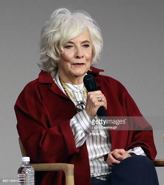 Betty Buckley attends Meet the Actor James McAvoy Anya TaylorJoy and Betty Buckley to discuss 'Split' at Apple Store Soho on January 19 2017 in New...