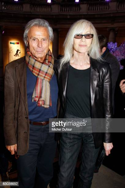 Betty Catroux and her husband attend a party to celebrate Suzy Menkes Twenty Year Partnership with The Herald Tribune at the Musee Galliera on...