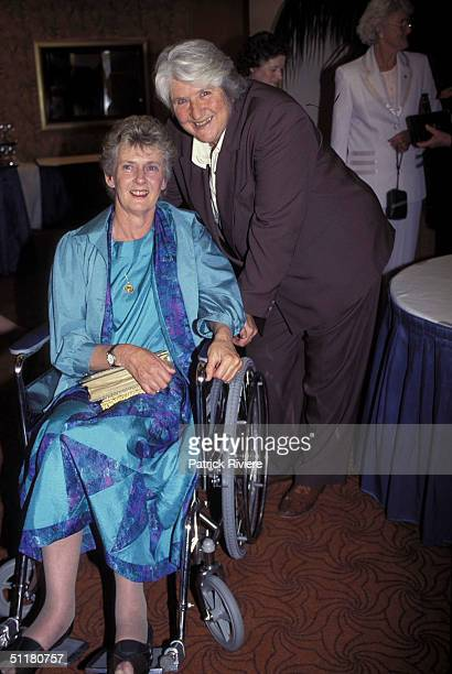 Betty Cuthbert and Dawn Fraser at The Betty Cuthbert Testimonial Lunch in Sydney