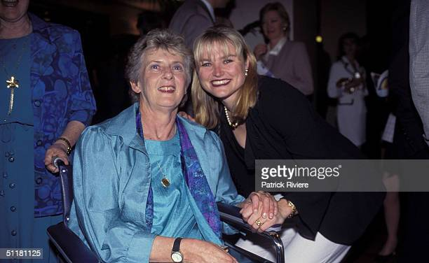 Betty Cuthbert and Melinda Gainsford at The Betty Cuthbert Testimonial Lunch in Sydney