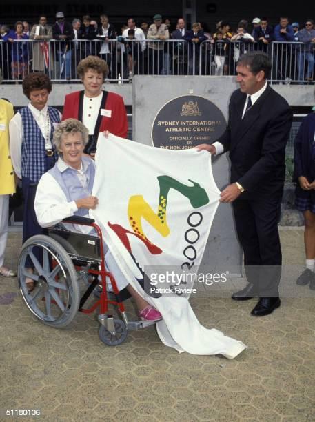 Betty Cuthbert at the International Athletics Centre in Sydney
