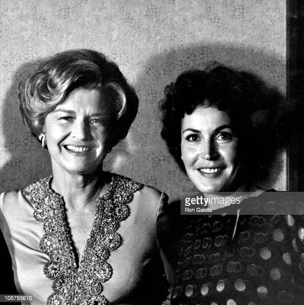 Betty Ford and Helen Reddy during Beaux Art Ball at The Century Plaza Hotel in Century City CA United States