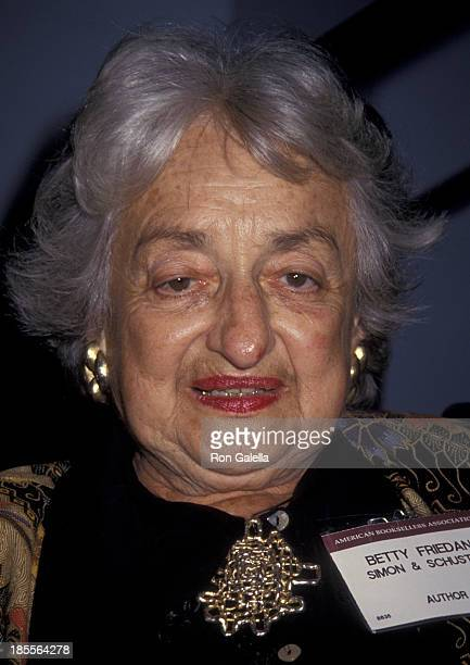 Betty Friedan attends American Booksellers Association Convention on May 29 1993 at the Miami Beach Convention Center in Miami Florida