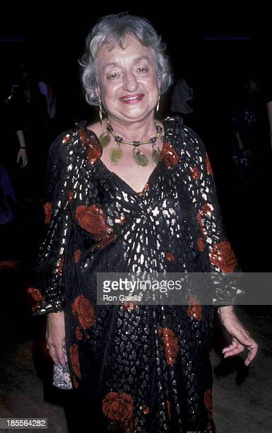 Betty Friedan attends the PROPeace Benefit to Raise Funds for the Great Peace March on January 18 1986 at the Palladium in New York City