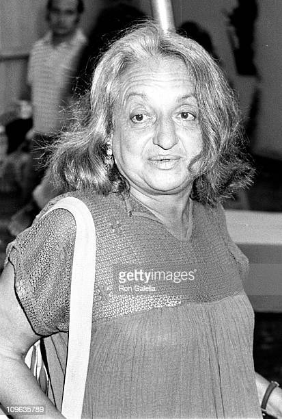 Betty Friedan during Betty Friedan Sighting at Bridgehampton Art Gallery July 3 1981 at Bridgehampton Art Gallery in Bridgehamton New York United...