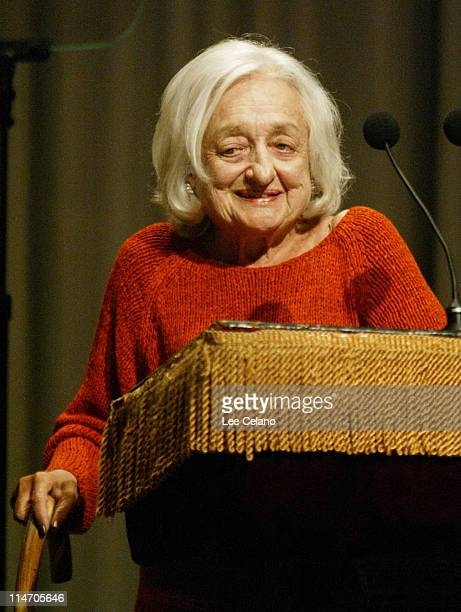 Betty Friedan during Cooper Union and People for the American Way Sponsor Reading of the United States Constitution at The Cooper Union in New York...