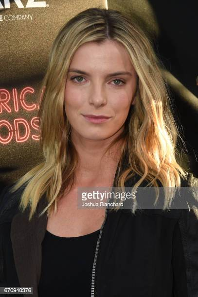 Betty Gilpin arrives at the Premiere of 'American Gods' on April 20 2017 in Los Angeles California