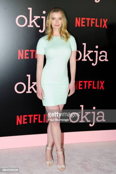 Betty Gilpin attends Netflix hosts the New York Premiere of 'Okja' at AMC Lincoln Square Theater on June 8 2017 in New York City