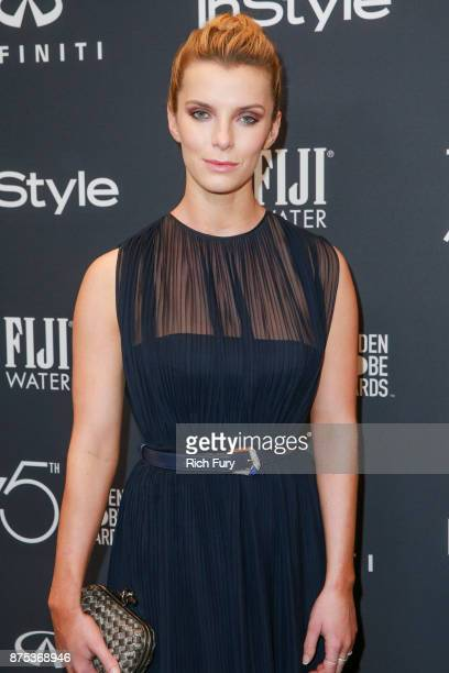 Betty Gilpin attends the Hollywood Foreign Press Association and InStyle celebrate the 75th Anniversary of The Golden Globe Awards at Catch LA on...