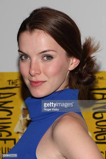 Betty Gilpin attends the opening night of 'The Language Archive' at Laura Pels Theatre on October 17 2010 in New York City