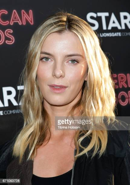 Betty Gilpin attends the premiere of Starz's 'American Gods' at ArcLight Cinemas Cinerama Dome on April 20 2017 in Hollywood California