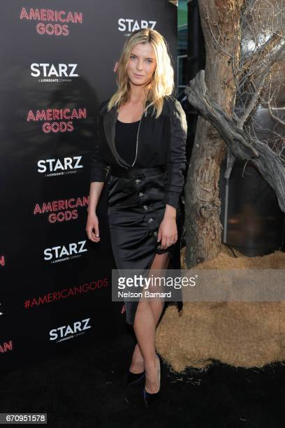 Betty Gilpin attends the premiere of Starz's 'American Gods' at the ArcLight Cinemas Cinerama Dome on April 20 2017 in Hollywood California
