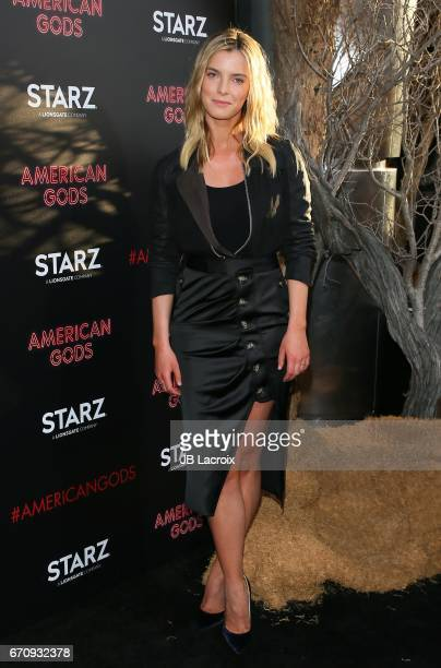 Betty Gilpin attends the premiere Of Starz's 'American Gods' on April 20 2017 in Hollywood California