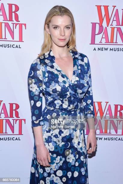 Betty Gilpin attends 'War Paint' Broadway opening night arrivals at Nederlander Theatre on April 6 2017 in New York City