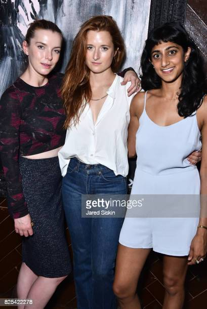 Betty Gilpin Grace Gummer and Sunita Mani attend Momentum Pictures with The Cinema Society SVEDKA host the after party for 'Fun Mom Dinner' at Jimmy...