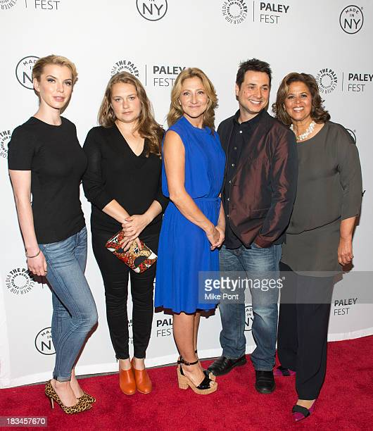 Betty Gilpin Merritt Wever Edie Falco Adam Ferrara Anna Deavere Smith attend the 'Nurse Jackie' panel during 2013 PaleyFest Made In New York at The...