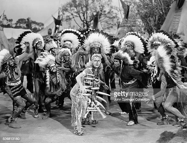 Betty Hutton plays Annie Oakley in the 1950 production of Annie Get Your Gun
