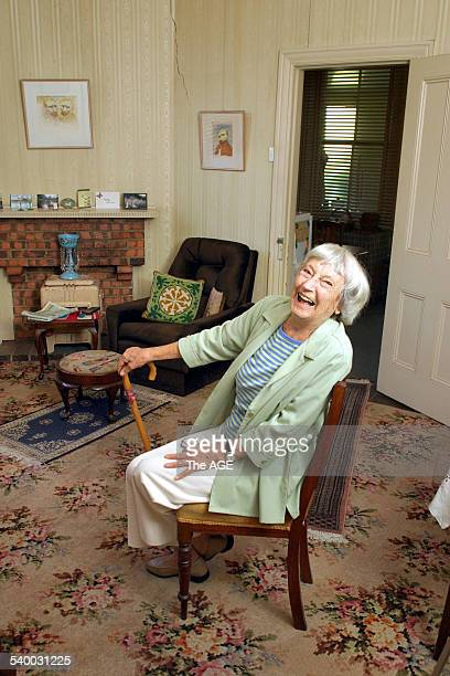 Betty Irvine in her St Kilda home in her loungeroom on 30th March 2006 THE AGE DOMAIN Picture by MELANIE FAITH DOVE