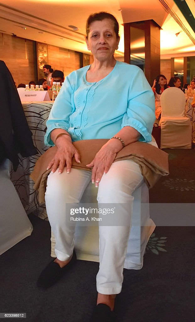 Betty Kapadia (mother of Dimple Kapadia) at the launch of her granddaughter, Twinkle Khanna's second book, The Legend of Lakshmi Prasad, published by Juggernaut Books, at the JW Marriott on November 15, 2016 in Mumbai, India.