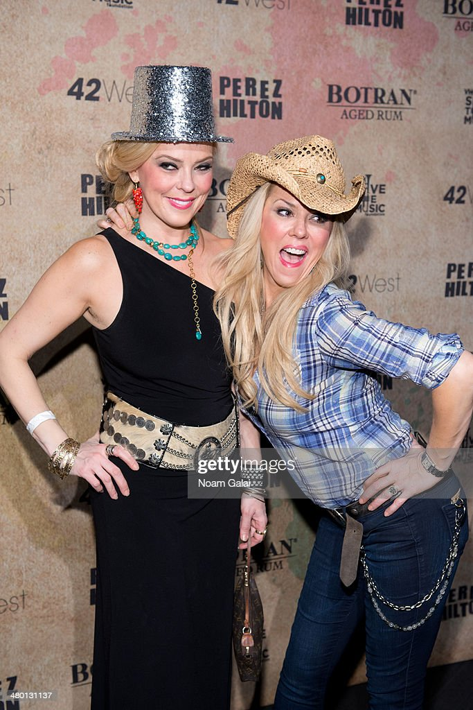 Betty Malo and Ana Fernandez attend Perez Hilton's 36th Birthday 'Madonnathon' at 42West on March 22, 2014 in New York City.