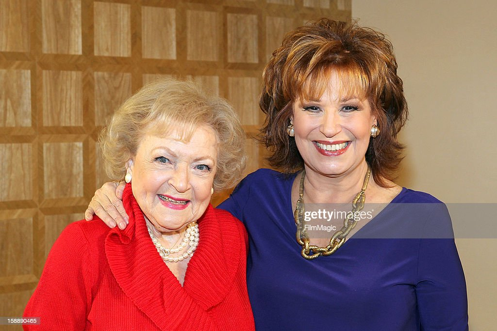 <a gi-track='captionPersonalityLinkClicked' href=/galleries/search?phrase=Betty+White&family=editorial&specificpeople=213602 ng-click='$event.stopPropagation()'>Betty White</a> and <a gi-track='captionPersonalityLinkClicked' href=/galleries/search?phrase=Joy+Behar&family=editorial&specificpeople=214608 ng-click='$event.stopPropagation()'>Joy Behar</a> attend the <a gi-track='captionPersonalityLinkClicked' href=/galleries/search?phrase=Joy+Behar&family=editorial&specificpeople=214608 ng-click='$event.stopPropagation()'>Joy Behar</a> Set Photography For Current TV at The London Hotel on January 2, 2013 in West Hollywood, California.