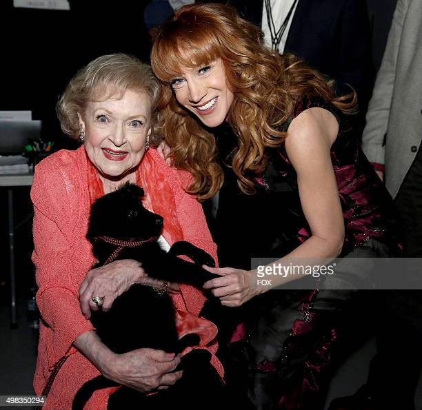Betty White and Kathy Griffin backstage at the second annual THE ALLSTAR DOG RESCUE CELEBRATION a oneofakind event celebrating Americas rescue dogs...