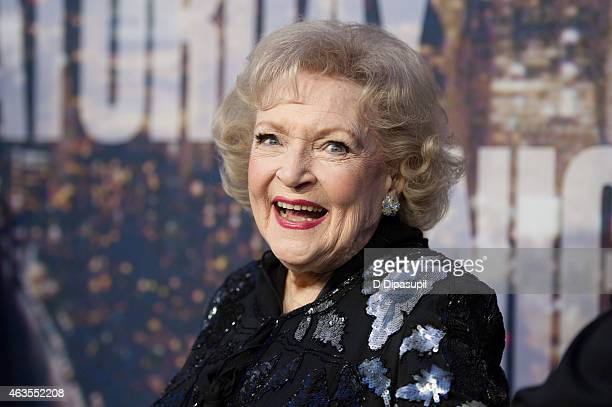 Betty White attends the SNL 40th Anniversary Celebration at Rockefeller Plaza on February 15 2015 in New York City