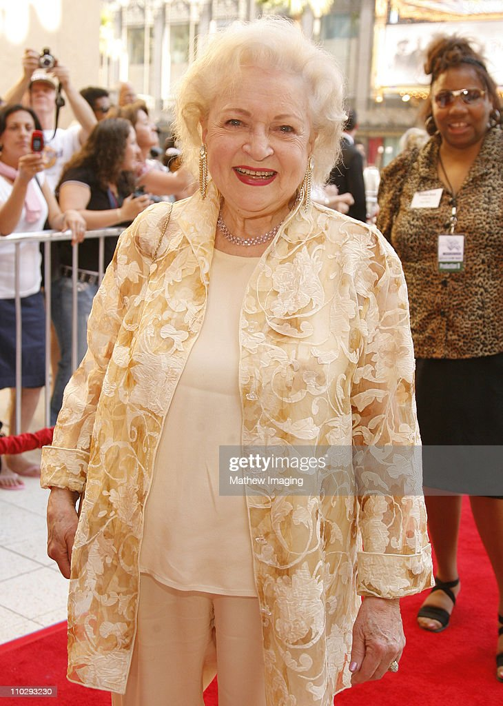 <a gi-track='captionPersonalityLinkClicked' href=/galleries/search?phrase=Betty+White&family=editorial&specificpeople=213602 ng-click='$event.stopPropagation()'>Betty White</a> during 34th Annual Daytime Emmy Awards - Red Carpet at Kodak Theatre in Hollywood, California, United States.