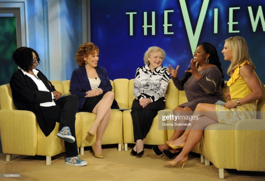 THE VIEW - Betty White ('Hot in Cleveland') made her first guest appearance on 'THE VIEW,' MONDAY, JUNE 14, 2010 (11:00 a.m. - 12:00 noon, ET) airing on the ABC Television Network. VW10 (Photo by Donna Svennevik/ABC via Getty Images) WHOOPI