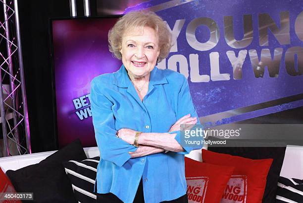 Betty White visits the Young Hollywood Studio on November 17 2013 in Los Angeles California