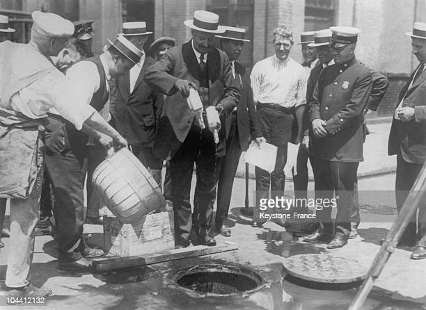 Between 1925 and 1930 stocks of adulterated alcohol were seized by police and emptied into sewage drains in New York For some time the hospitals of...