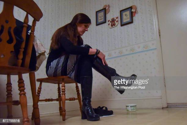Between campaign stops Danica Roem who is running for house of delegates against GOP incumbent Robert Marshall makes a pitstop at her home to change...