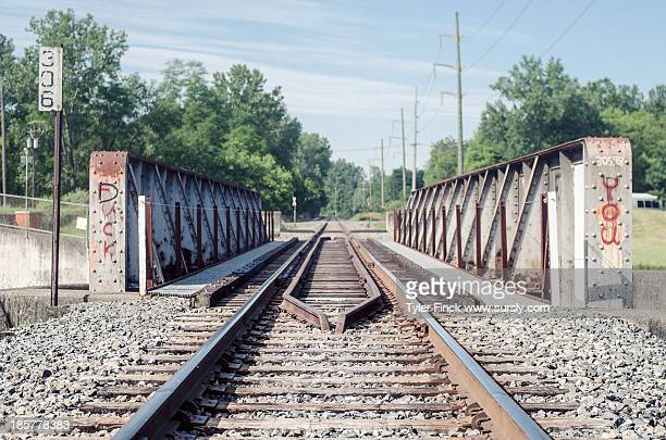 Between railroad tracks
