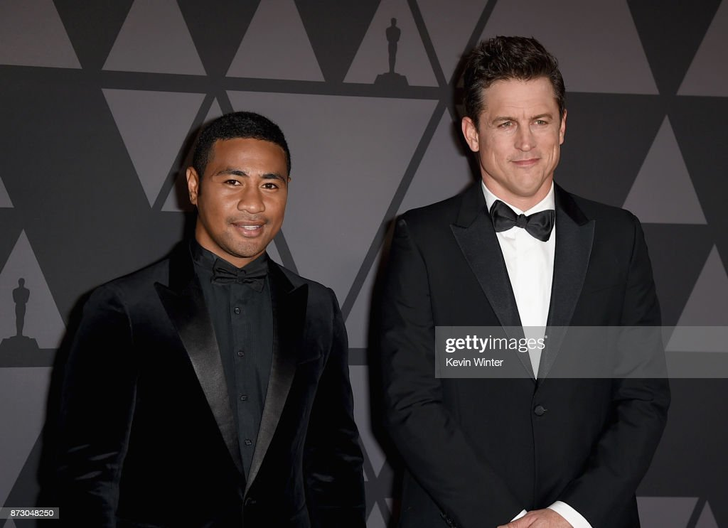 Beulah Koale and Jason Hall attend the Academy of Motion Picture Arts and Sciences' 9th Annual Governors Awards at The Ray Dolby Ballroom at Hollywood & Highland Center on November 11, 2017 in Hollywood, California.