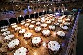 catering table set in Amsterdam Beurs Van Berlage