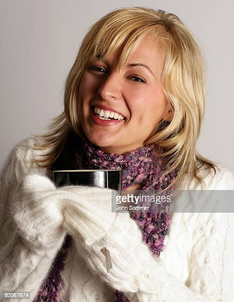 Beutiful woman drinking tea
