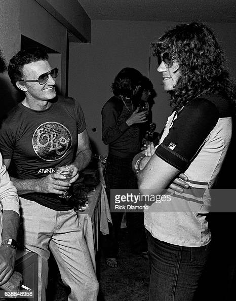 Bev Bevan of ELO and guest attend ELO press reception at the Peachtree Plaza in Atlanta Georgia July 06 1978