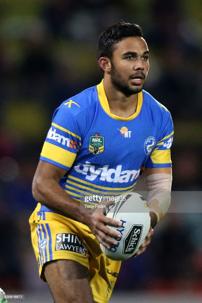 Bevan French of the Eels in action during the round 12 NRL match between the Newcastle Knights and the Parramatta Eels at Hunter Stadium on May 30, 2016 in Newcastle, Australia.