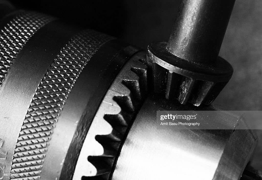 Bevel gears on a drill