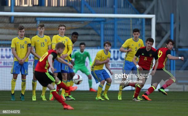 20170323 Beveren Belgium / Uefa U19 Euro 2017 Qualifying Round Sweden vs Belgium / Dante RIGO Goal / Football Under 19 Red Devils / Rode Duivels /...