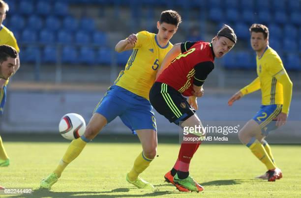 20170323 Beveren Belgium / Uefa U19 Euro 2017 Qualifying Round Sweden vs Belgium / Dennis HADZIKADUNIC Jorn VANCAMP / Football Under 19 Red Devils /...