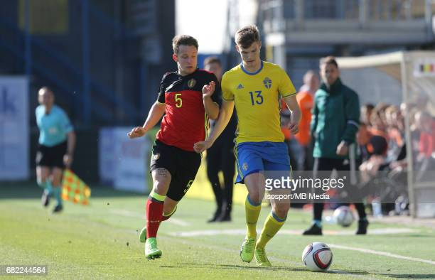 20170323 Beveren Belgium / Uefa U19 Euro 2017 Qualifying Round Sweden vs Belgium / Christophe JANSSENS Svante INGELSSON / Football Under 19 Red...
