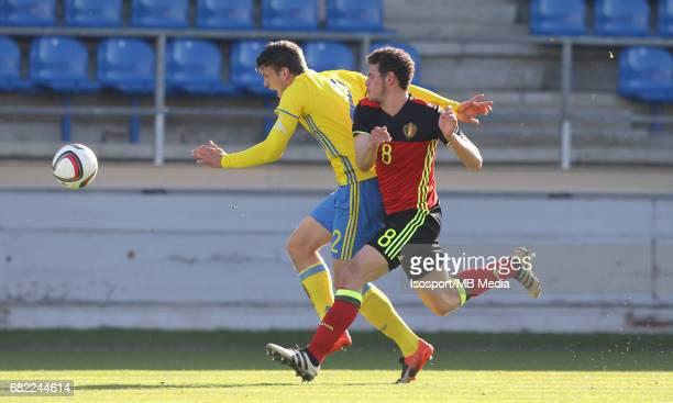 20170323 Beveren Belgium / Uefa U19 Euro 2017 Qualifying Round Sweden vs Belgium / Mattias ANDERSON Louis VERSTRAETE / Football Under 19 Red Devils /...